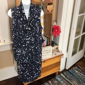 Michael Kors 1X Splatter Pattern Dress